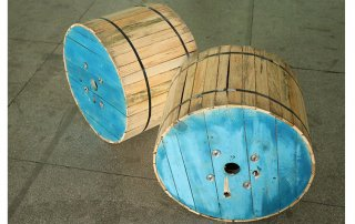 Fiber cable wooden drum packing