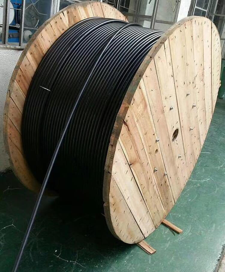fiber optic cable wooden packing